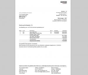 Better InvoicePDF Vorkasse