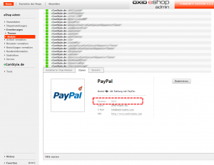 OXID PayPal Version